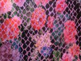 数码印刷花朵 格丽特细 葱闪粉鳄鱼纹PU