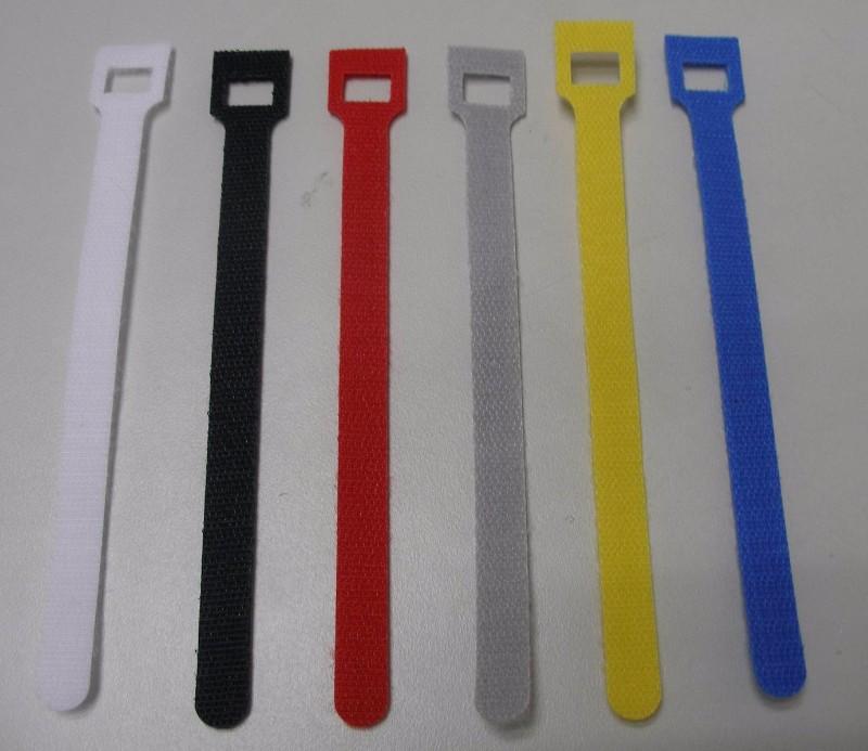 厂家供应T型魔术贴扎带 彩色尼龙魔术扎带 背对背魔术贴扎带