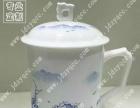 陶瓷茶杯厂家黄点金花 人像陶瓷茶杯定做