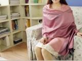 2014春夏新品民族风三色浪漫棉料提花流苏女士围巾空调披肩两用