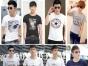 厂家一手货源男装T恤批发韩版纯棉男装T恤几元批发