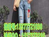 浙江温州大量库存牛仔裤批发今年新款早夜市女式牛仔裤几元批发