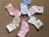 外贸原单日单XSW全棉纯棉儿童袜子足底防滑豆宝宝袜 一组三双
