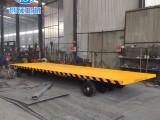 创硕牵引式平板拖车 货物托盘运输车 仓库中转车
