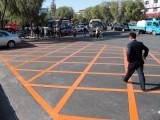 济宁道路划线,任城停车位划线 济宁市中划停车位,网格线