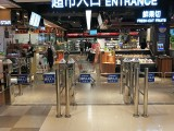 紅外感應門超市感應門圓柱擺閘感應門 感應門生產廠家