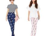 韩国stylenanda同款女装新款夏独角兽修身显瘦显腿长休闲裤