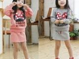 2014韩版秋款 女童时尚百搭套装 儿童套装 外贸女套裙 童装批