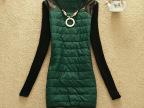 2014韩版百搭秋冬新款女装长袖t恤中长款加绒打底衫 送项链