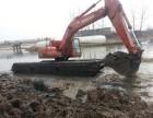 长春市绿园区中国三一215型水上挖掘机湿地挖掘机出租