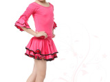 少儿拉丁舞练功服 女童拉丁舞服装 儿童拉丁舞裙新款舞蹈套装衣服
