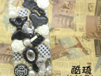 韩版时尚爱心蝴蝶结 珍珠Iphone 4/5保护壳 苹果保护套批发