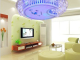 吸顶灯卧室儿童房灯 温馨浪漫简约现代亚克力圆形LED灯包邮