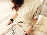 韩国代购2014秋冬新款女毛衣韩版高领针织套头加厚背心马夹