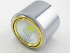 LED明装筒灯 电镀银吸顶明装天花筒灯 COB5W 7W明装筒灯