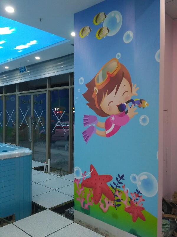 惠州专业贴墙纸无缝墙布壁画
