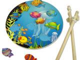 木质木制儿童拆装钓鱼玩具磁性早教 热转印益智宝宝玩具批发1-6岁