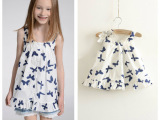 外贸童装一件代发 女童吊带衫 夏季韩版原单童吊带儿童纯棉娃娃衫