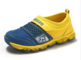 春季新款一脚蹬童鞋 透气网布魔术贴儿童运动鞋