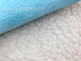 供应麂皮绒复合羊羔绒 皮毛一体面料  麂皮绒复合长毛绒