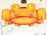 热销 中式吊灯 羊皮吊灯 6头8头迎客松LED灯具 餐厅酒店大堂灯饰