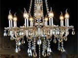 欧式蜡烛灯水晶灯餐吊灯客厅灯大气创意  家居灯饰 现代灯具