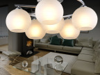 南波湾现代简约玻璃月亮铝吸顶灯具客厅卧室儿童房书房LED吊灯饰
