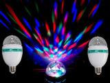 迷你激光灯led舞台灯 KTV舞厅闪光灯七彩旋转摇头灯光水晶魔球