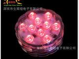 厂家直销 LED遥控发光潜水灯 防水潜水灯 遥控防水灯