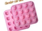 厂方直销 16连表情猪巧克力模具 布丁模