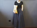 2015夏季新款女装日韩街头潮七分裤超大摆竖条纹阔腿裤