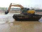 无锡市宜兴市河道清淤挖掘机出租水上挖掘机出租服务型号
