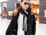 冬装新款棉服 2014韩版立领大码加厚保暖拼接棉衣 潮男棉袄外套