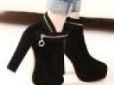 2013 7月夏款外贸代理复古绒面百搭简约粗跟短靴女靴子一件代发
