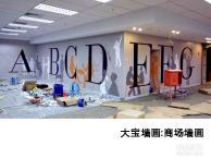 商场墙画,商场手绘,商场墙绘,商场彩绘,商场壁画