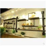 复古做旧工业水管书架 创意实木置物架 酒吧上墙面架 可设计订制