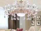 长沙客厅吸顶灯浪漫田园风格客厅吊灯 时尚大气精美款水晶灯