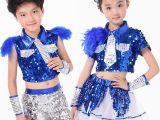 2015六一儿童舞蹈服男女童拉丁爵士舞蹈幼儿园童装表演服宝宝批发