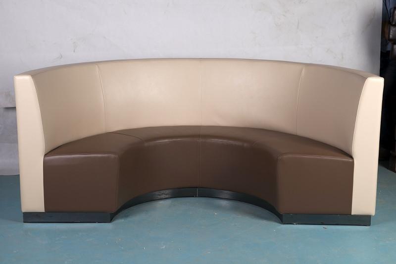 供应快餐店桌椅-圆形沙发卡座 郑州圆形沙发卡座价格