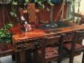 拉萨市老船木办公家具茶桌椅子茶台客厅沙发茶几餐桌