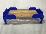 厂家直销幼儿园儿童单人塑料木板床