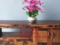 清远市老船木家具茶桌办公桌餐桌椅子实木沙发茶几茶台鱼缸博古架