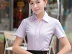 佐马仕女士短袖衬衫气质白领女式衬衣夏装职业工装OL通勤V领