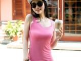 夏季新款女装 莫代尔韩版蕾丝背心 小背心 背心女 地摊货源批发