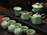 厂家批发汝窑开片整套功夫茶具高档礼品陶瓷茶具套装特价