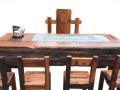 张家界实木家具办公桌茶桌椅子老船木客厅家具沙发茶几茶台餐桌