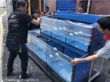 长沙海鲜池制作 定做超市水产区鱼池厂家