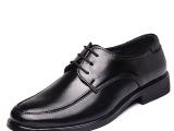 厂家批发秋季单鞋休闲男鞋子正装男皮鞋真皮休闲男式皮鞋系带男鞋