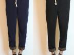 陈冠希潮牌日系男夏季宽松哈伦裤薄棉运动针织卫裤九分休闲裤子男
