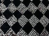 3mm珠片黑色绒布绣花/时尚箱包手袋服装面料